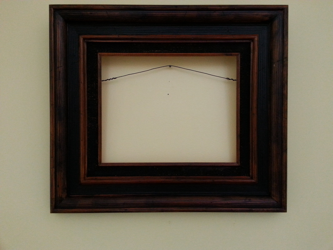 Framing examples paul makuchals art example 7 8 x 10 sized frame with dark brown burlap border jeuxipadfo Images